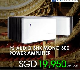 PS AUDIO BHK MONO 300 POWER AMPLIFIER-SILVER